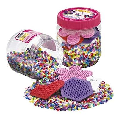 Bügelperlen Dose mit ca. 4000 Perlen inkl. Zubehör von Hama