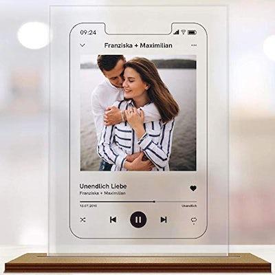 Personalisierbarer Bilder-Rahmen im Music-Player Look