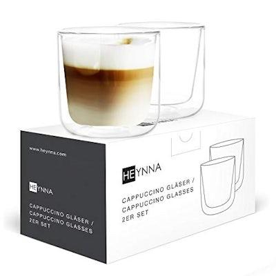 Doppenwandige Cappuccino Tassen 2 x 250ml