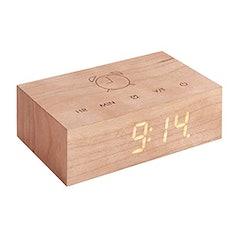 Flip Click Clock von Gingko - Aus Holz mit Touch-Control