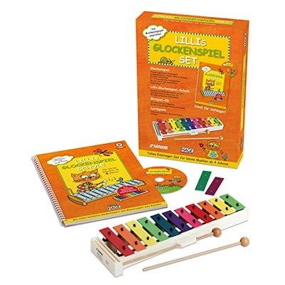 Glockenspiel-Set für Kinder - Mini-Xylophon mit Lernbuch