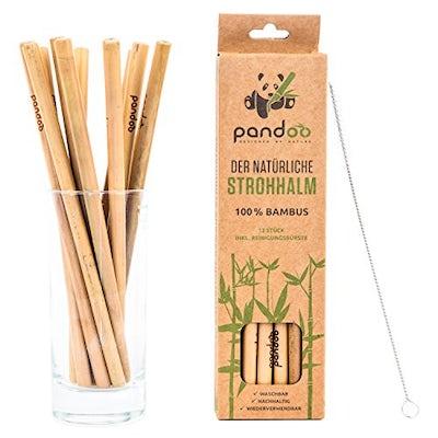 Wiederverwendbare Bambus-Strohhalme