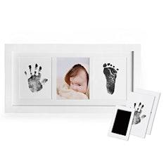 Baby Handabdruck und Fußabdruck Fotoalbum mit Stempelkissen Druckkarten
