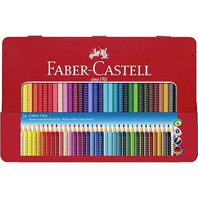 Faber-Castell Buntstifte Colour Grip, 36er Metalletui