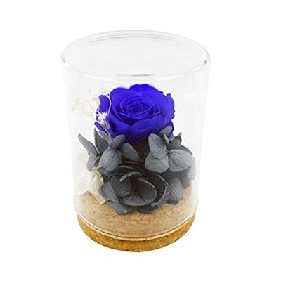 Konservierte Rose in Blau