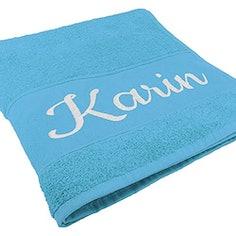 Handtuch mit Namen oder Wunschtext Bestickt