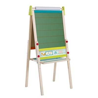 roba Kinder-Tafel 'ABC Eule', höhenverstellbar mit Schreibtafel, magnetischer Maltafel magnetisch, ABC & Ablage