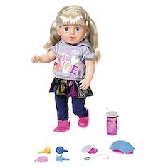 BABY born Soft Touch Sister Blond Puppe mit lebensechten Funktionen