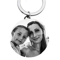 Schlüsselanhänger mit individuellem Bild aus Edelstahl (personalisierbar)