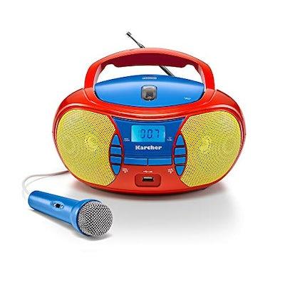 Tragbarer Kinder CD-Player – mit Radio, USB & Mikrofon