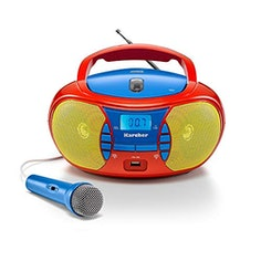 Tragbarer Kinder CD-Player – mit Radio, USB & Mikrofon