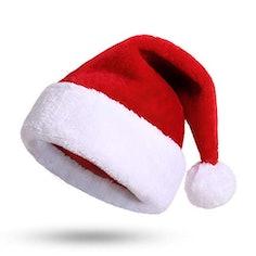 Weihnachtsmütze mit dickem Fellrand