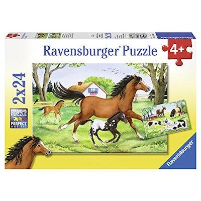 Kinderpuzzle - Welt der Pferde (2 x 24 Teile)