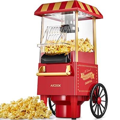 Retro-Popcornmaschine für Zuhause – ohne Feet, nur mit Heißluft
