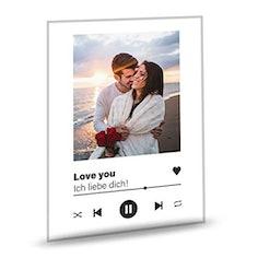 Euer Foto auf Acrylglas - Song Player Foto-Rahmen (personalisierbar)