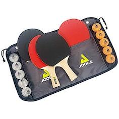 JOOLA Tischtennis-Set, inkl. 4 Tischtennisschläger, 10 Tischtennisbälle und Tasche