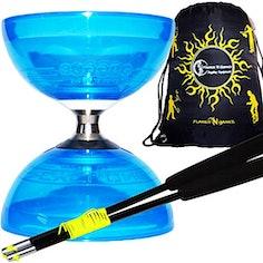 Freiläufer-Diabolo (mit Kugellager) - Kombi-Set mit Handstäben, Diaboloschnur und Tasche