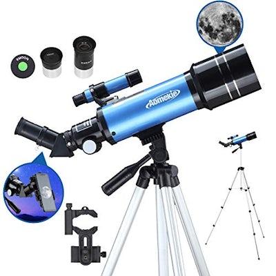Aomekie Teleskop-Fernsohr 70/400 Fernrohr - Ideal für Amateur-Astronomen und Kinder