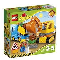 LEGO Duplo - Bagger, Lastwagen und bunte Bausteine
