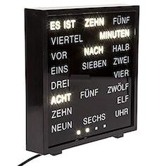 Word Clock - Uhr mit Wort auf deutsch