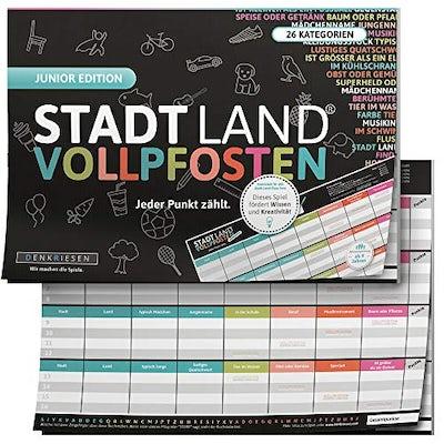 Stadt Land VOLLPFOSTEN® - JUNIOR Edition - Für Kinder und Jugendliche