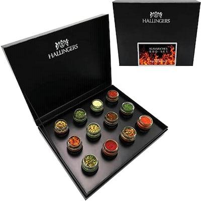 12er BBQ-Geschenk-Set mit Gewürzen aus aller Welt
