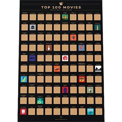 Top 100 Filme (Poster zum Freirubbeln)